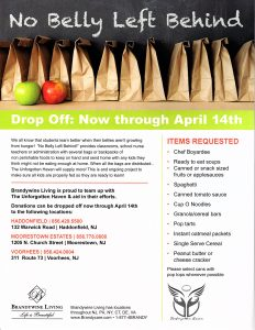 No Belly Left Behind Project @ Brandywine Living at Moorestown Estates | Moorestown | New Jersey | United States