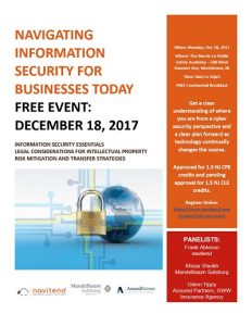 Navigating Information Security for Businesses Today @ Morris County Public Safety Training Academy  | Morristown | New Jersey | United States
