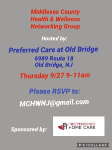 Middlesex County Health & Wellness Networking Group @ Preferred Care of Old Bridge  | Old Bridge Township | New Jersey | United States