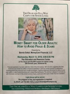 Money Smart For Older Adults: How To Avoid Fraud & Scams @ The Oscar and Wilf Campus for Senior Living | Franklin Township | New Jersey | United States
