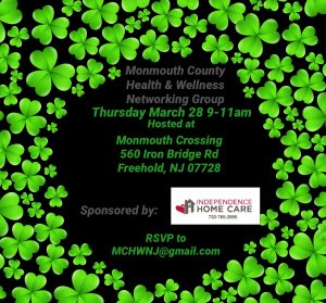 Monmouth County Health & Wellness Networking Group @ Monmouth Crossing
