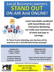 Multi-Media Marketing Sessions on Increasing Your Business! @ Sheraton Eatontown