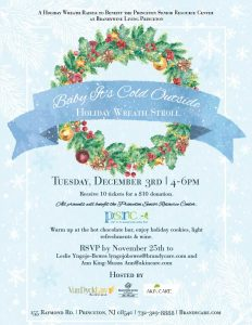 Baby It's Cold Outside Holiday Wreath Stroll @ Brandywine Living at Princeton