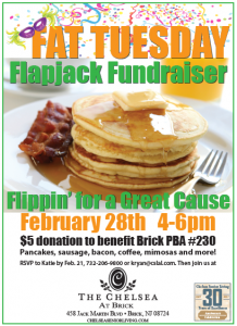 The Chelsea at Brick invites you to our Flapjack Fundraiser @ The Chelsea at Brick | Brick | New Jersey | United States