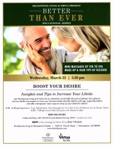 BETTER THAN EVER: Boost Your Desire: Insights and Tips to Increase Your Libido @ Brandywine Living Moorestown Estates | Moorestown | New Jersey | United States