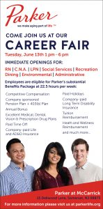 CAREER FAIR - PARKER AT MCCARRICK @ 15 Dellwood Lane | Franklin Township | New Jersey | United States