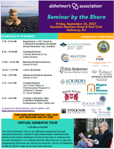 Alzheimer's Association Seminar by the Shore @ Stockton Seaview Hotel & Golf Club | Galloway | New Jersey | United States