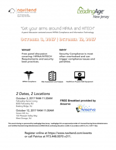 Get Your Arms Around HIPAA and HITECH - Panel Discussion @ Fellowship Senior Living | Bernards | New Jersey | United States