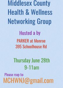 Middlesex County Health & Wellness Networking Group @ PARKER at MONROE  | Monroe Township | New Jersey | United States
