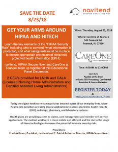Get Your Arms Around HIPAA and HITECH @ CareOne Teaneck | Teaneck | New Jersey | United States