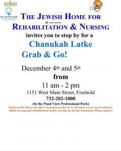 Chanukah Latke Grab and Go @ The Jewish Home for Rehabiltation & Nursing  | Farmingdale | New Jersey | United States