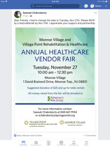 Annual Health Care Vendor Fair @ Monroe Village  | Monroe Township | New Jersey | United States