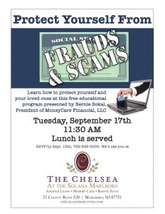 Protect Yourself From Frauds & Scams @ The Chelsea at the Solana Marlboro