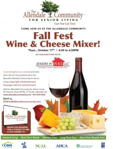 Fall Fest Wine & Cheese Mixer! @ The Allendale Community For Senior Living