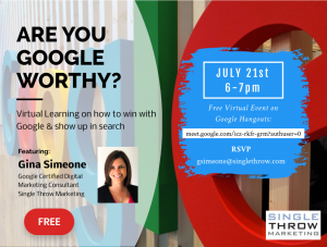 Are You GOOGLE Worthy? @ Virtual on Google Hangouts