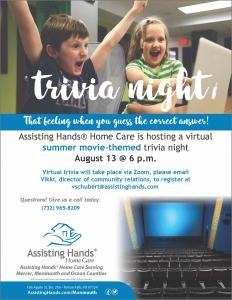 Summer Movie Trivia Night @ Zoom | Tinton Falls | New Jersey | United States