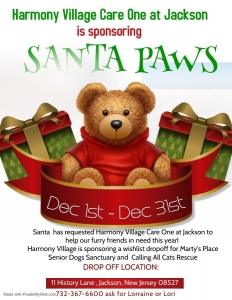 Santa Paws coming to Harmony Village @ CareOne, jackson! @ Harmony Village @ CareOne Jackson | Jackson Township | New Jersey | United States