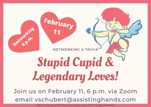 Stupid Cupid and Legendary Loves Virtual Networking and Trivia Night @ Zoom | Tinton Falls | New Jersey | United States